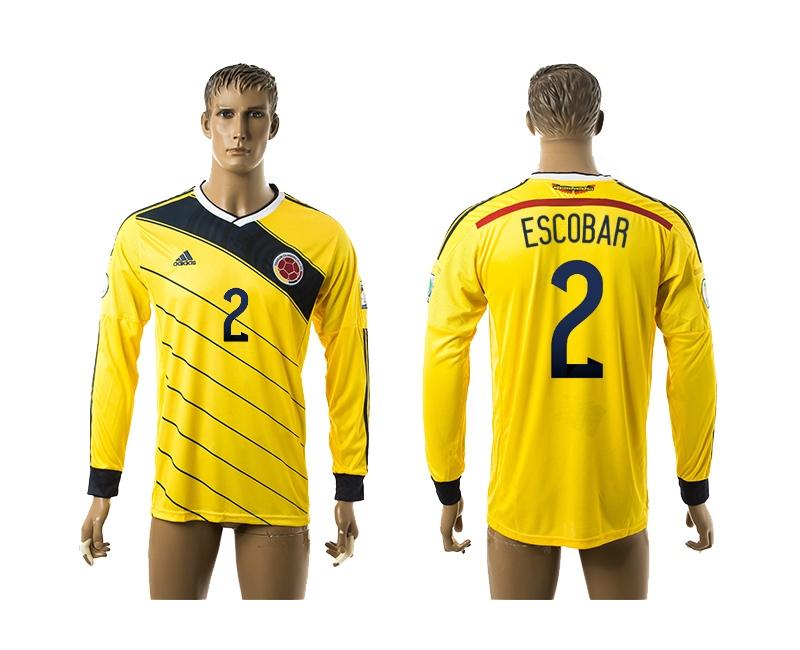 2014-15 Colombia 2 Escobar Home Long Sleeve Thailand Jerseys