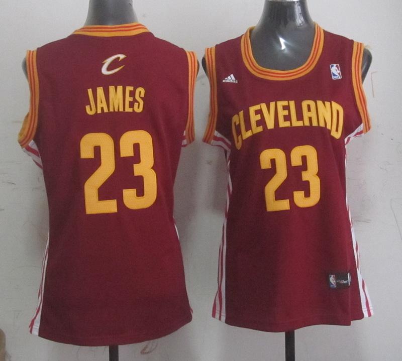 Cavaliers 23 James Red Women Jersey