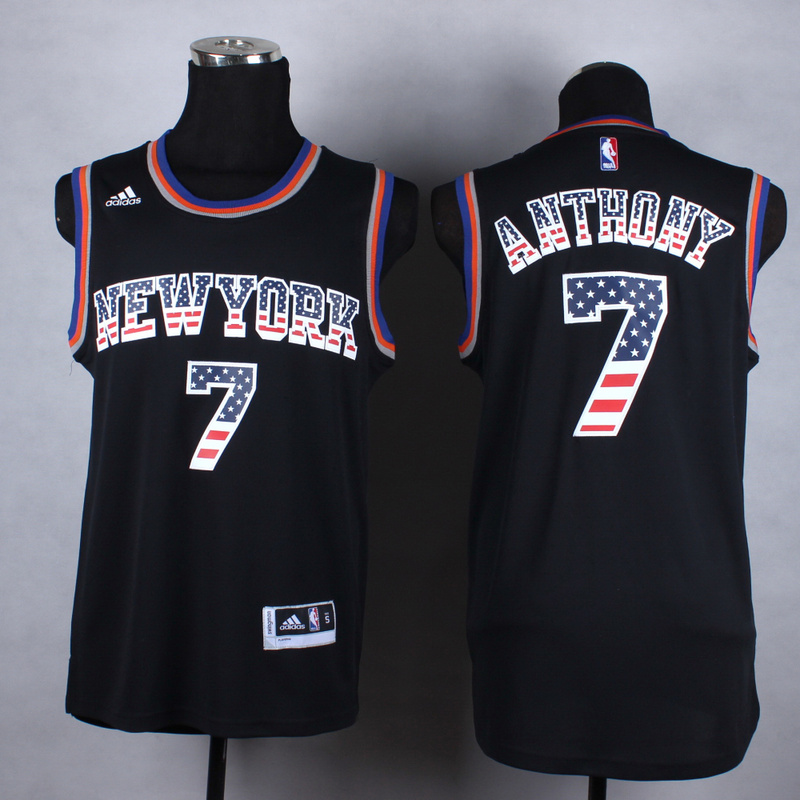 Knicks 7 Anthony Black US Flag Fashion Jerseys