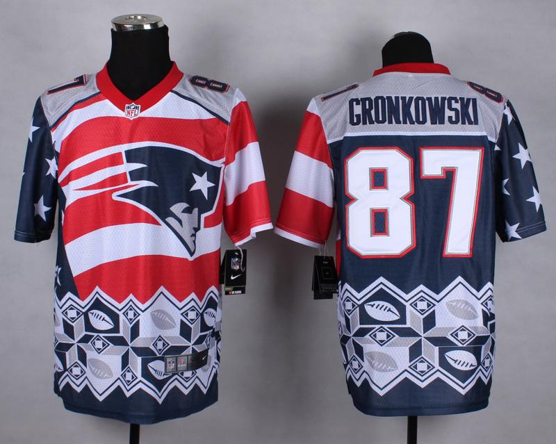 Nike Patriots 87 Gronkowski Noble Fashion Elite Jerseys