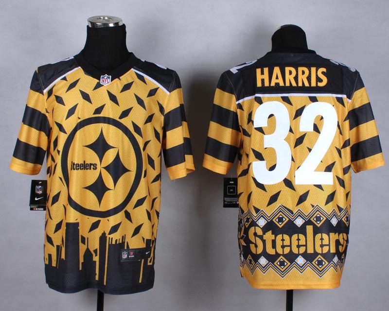 Nike Steelers 32 Harris Noble Fashion Elite Jerseys