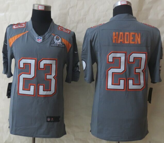 Nike Browns 23 Haden Grey 2015 Pro Bowl Game Jerseys