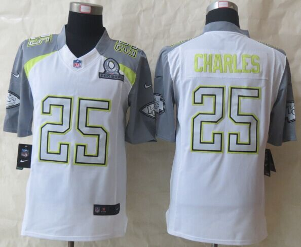 Nike Chiefs 25 Charles White 2015 Pro Bowl Elite Jerseys