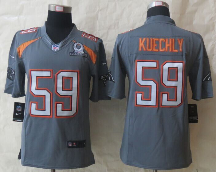 Nike Panthers 59 Kuechly Grey 2015 Pro Bowl Game Jerseys