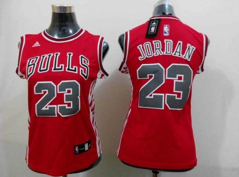 Bulls 23 Jordan Red 2015 Women Jersey