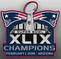 2015 Super Bowl XLIX Champions Patch