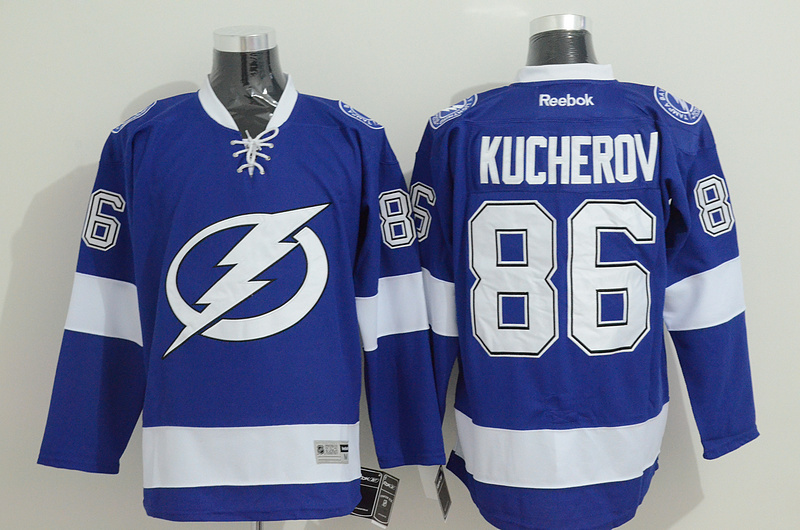 Lightning 86 Kucherov Blue Jerseys