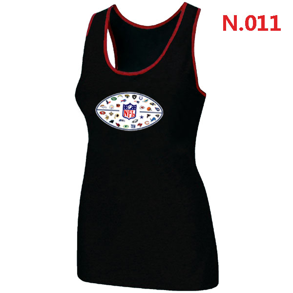 NFL 32 Teams Logo Collection Locker Room Women Tank Top Black