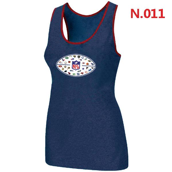 NFL 32 Teams Logo Collection Locker Room Women Tank Top Blue