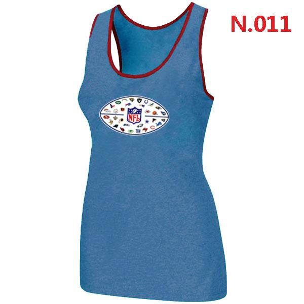 NFL 32 Teams Logo Collection Locker Room Women Tank Top L.Blue