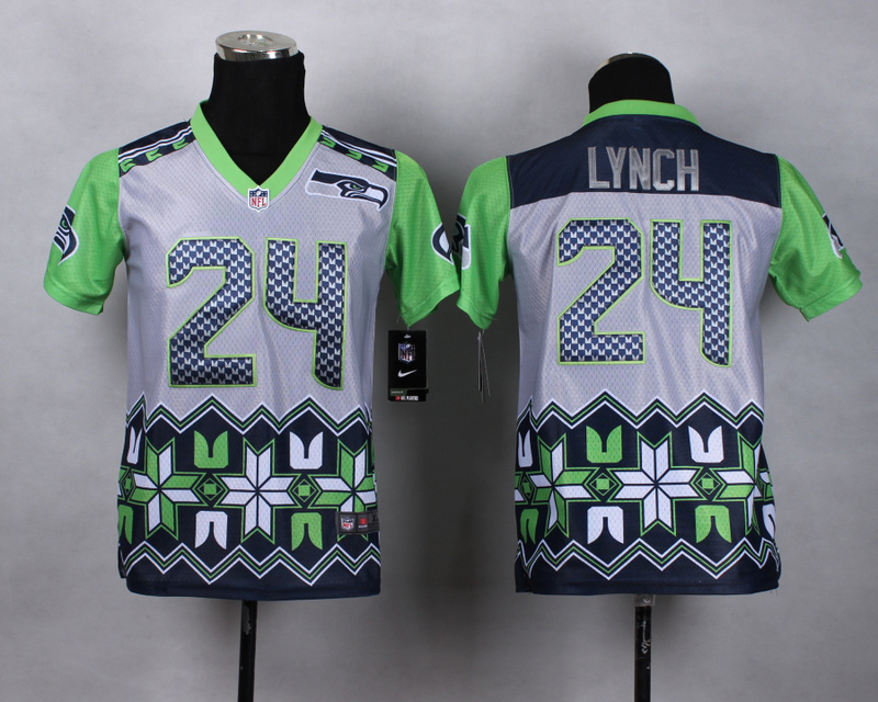 Nike Seahawks 24 Lynch Noble Fashion Youth Jerseys