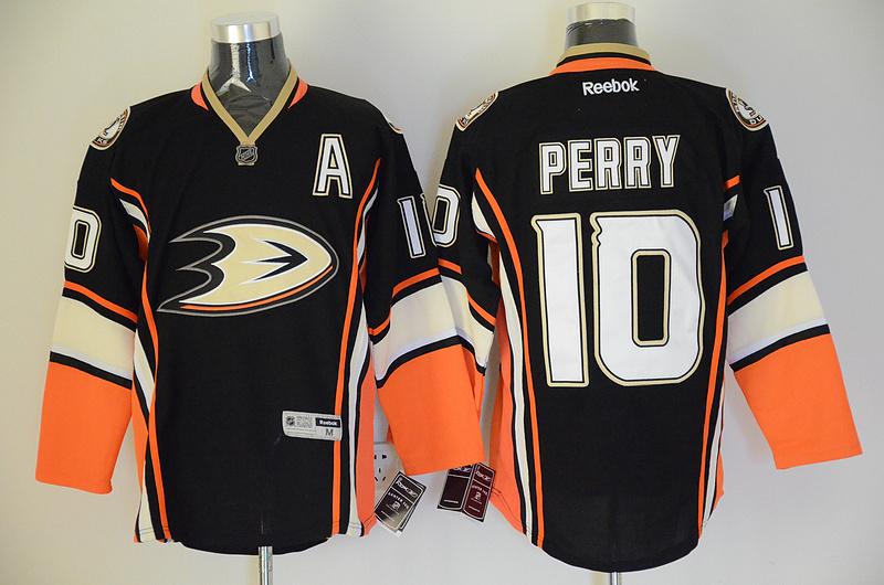 Ducks 10 Perry Black Jerseys
