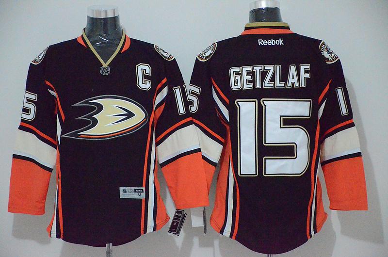 Ducks 15 Getzlaf Black Jerseys