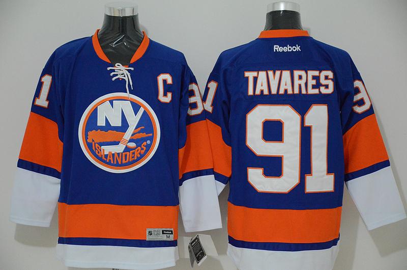 Islanders 91 John Tavares Blue Reebok Jersey