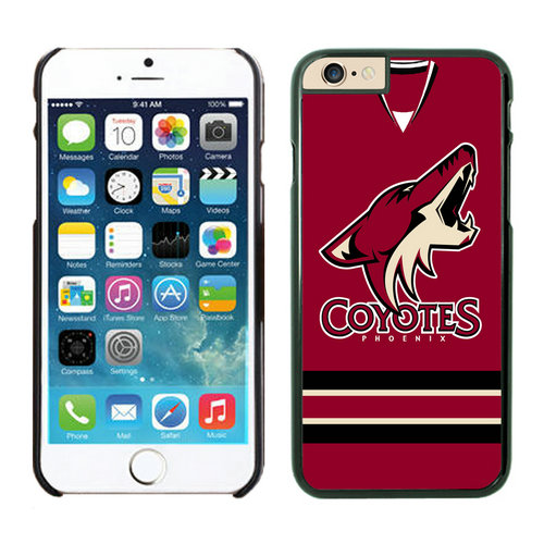 Phoenix Coyotes iPhone 6 Cases Black02