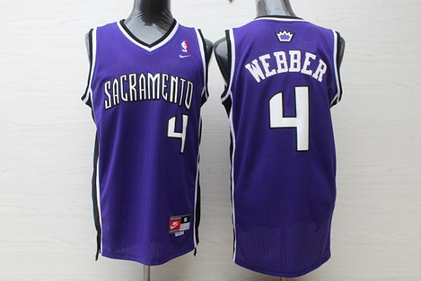 King 4 Webber Purple Throwback Jersey