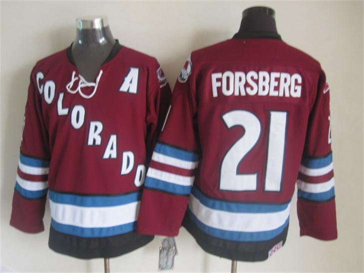 Avalanche 21 Forsberg Red Jersey