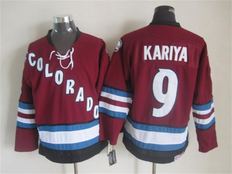 Avalanche 9 Kariya Red Jersey