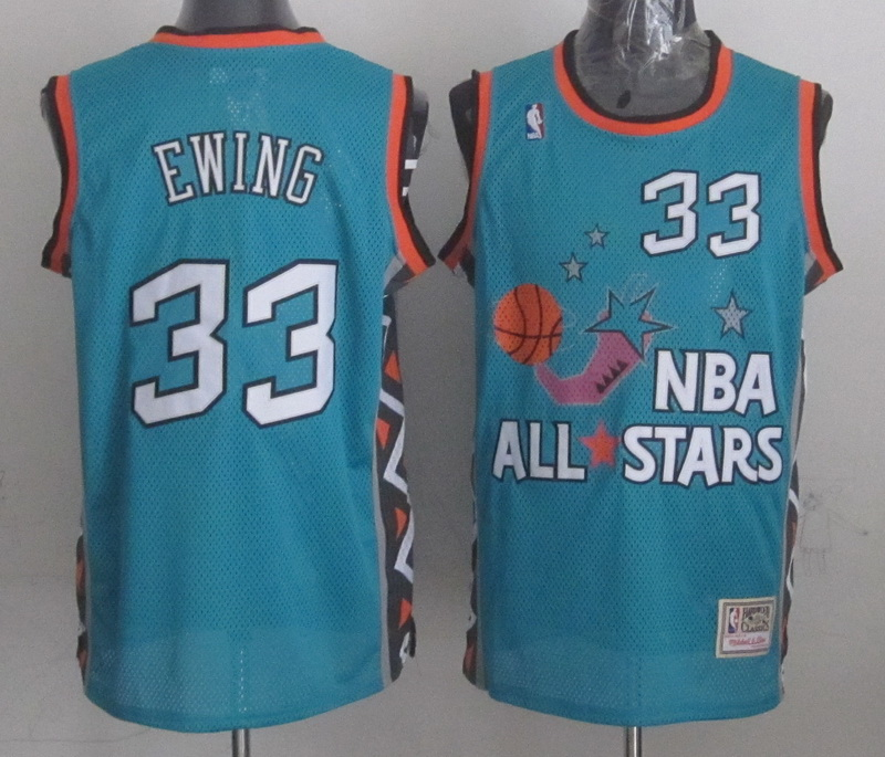 1996 All Star 33 Ewing Teal Jerseys