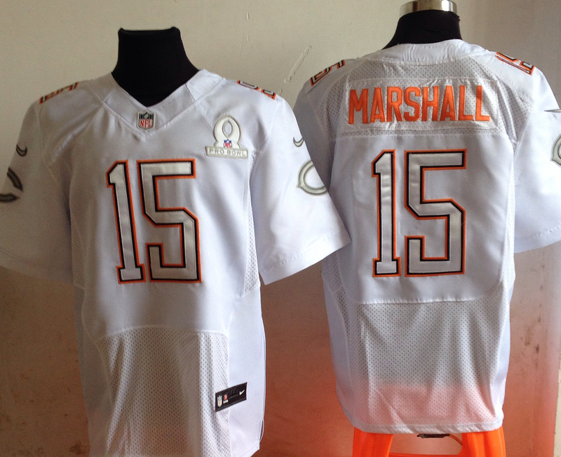 Nike Bears 15 Marshall White 2014 Pro Bowl Jerseys