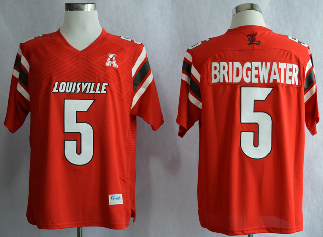 Louisville Cardinals 5 Bridgewater Red Jerseys