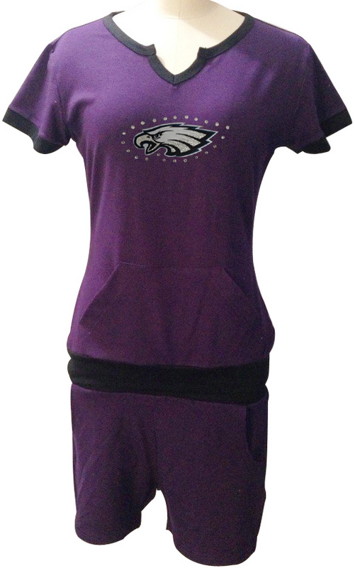Nike Eagles Purple Women Sport Suits