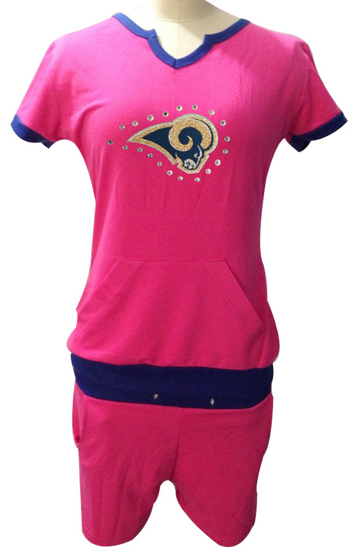 Nike Rams Pink Women Sport Suits