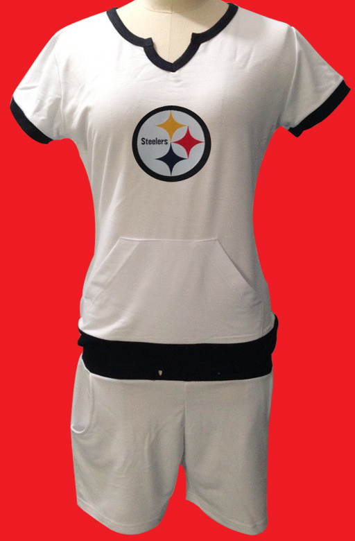 Nike Steelers White Women Sport Suits