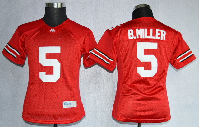 Ohio State Buckeyes 5 B.Miller Red College Women Jerseys