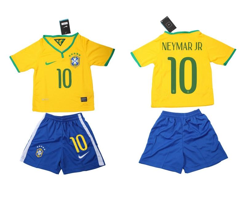 2014 World Cup Brazil Home Kids Jerseys