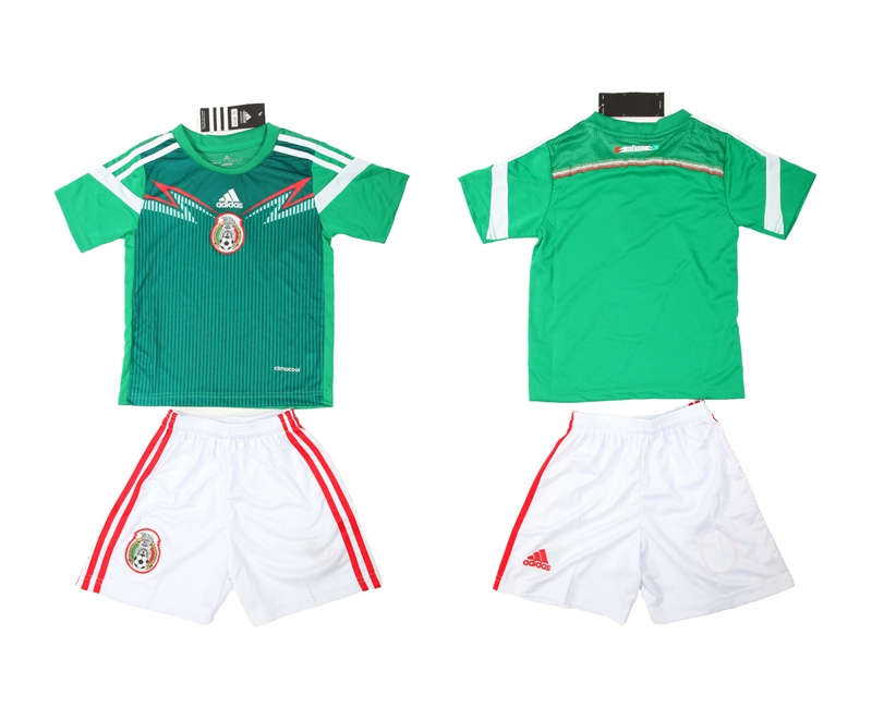 2014 World Cup Mexico Home Kids Jerseys