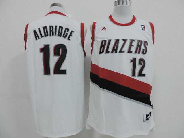 Blazers 12 Aldridge White New Revolution 30 Jerseys