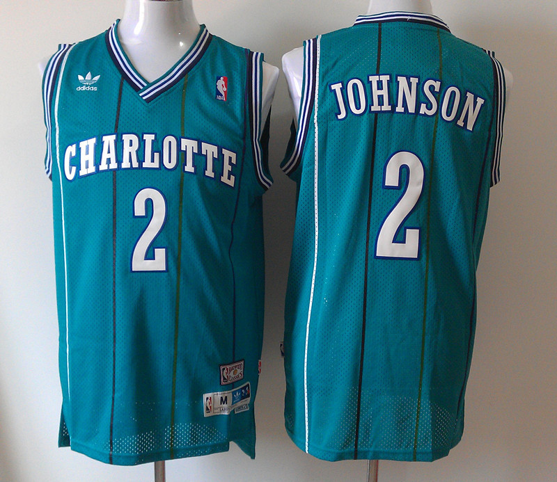 Bobcats 2 Johnson Green Hardwood Classics Jerseys