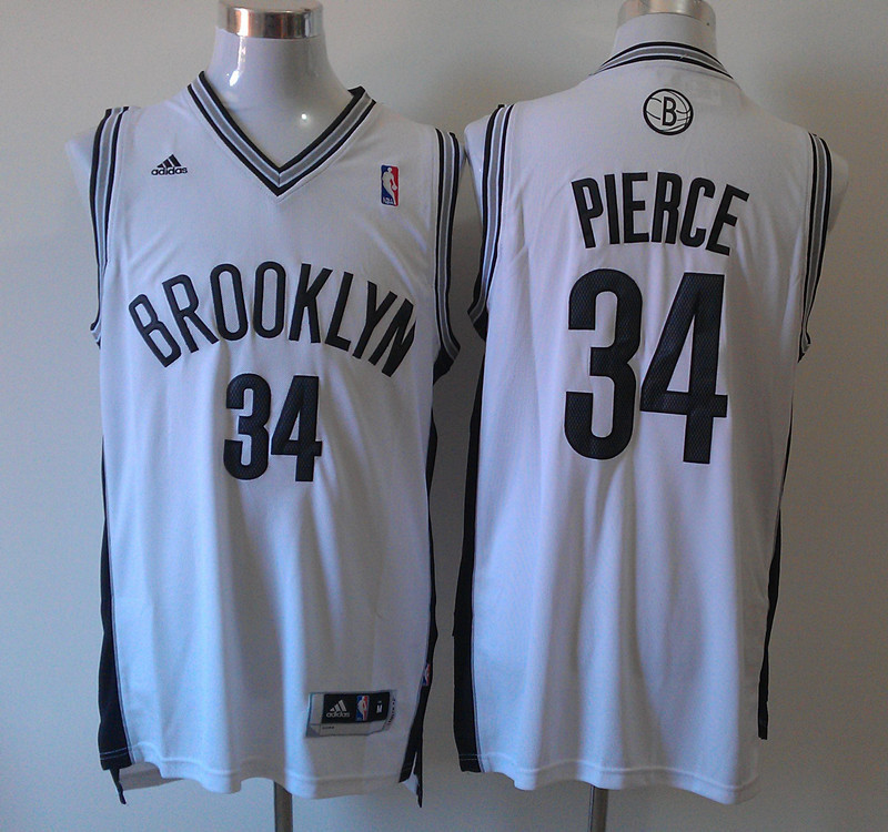 Nets 34 Pierce White New Revolution 30 Jerseys
