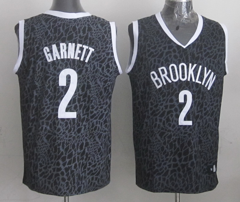 Nets 2 Garnett Black Crazy Light Swingman Jerseys