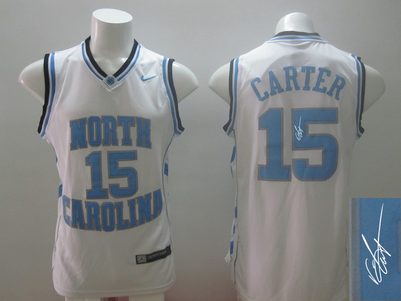 Nike North Carolina 15 Carter White New Revolution 30 Signature Edition Women Jerseys