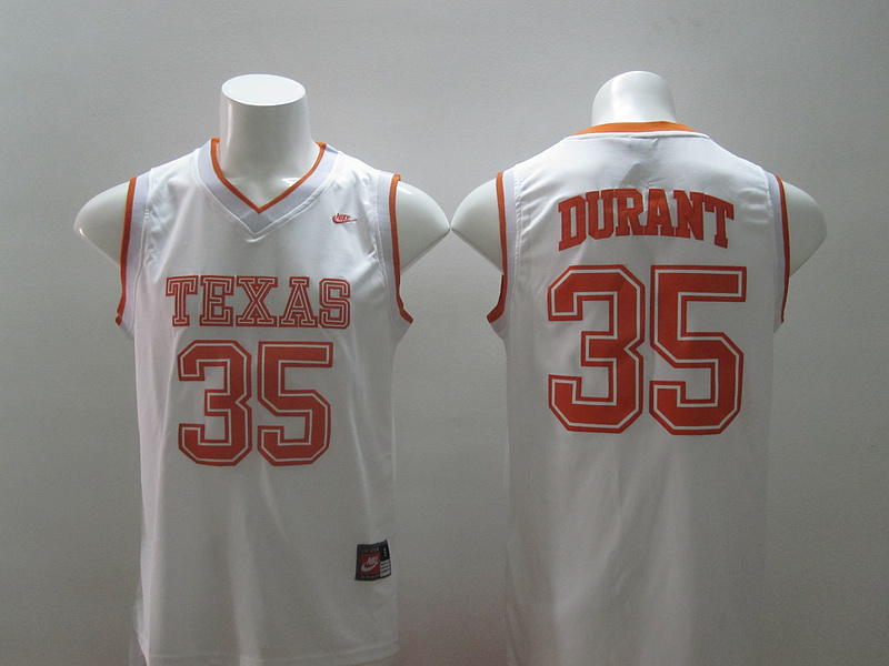 Texas Longhorns 35 Durant White Swingman Jerseys