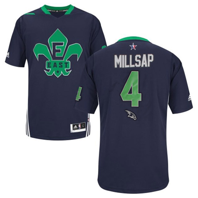 2014 All Star East 4 Millsap Blue Swingman Blue Jerseys