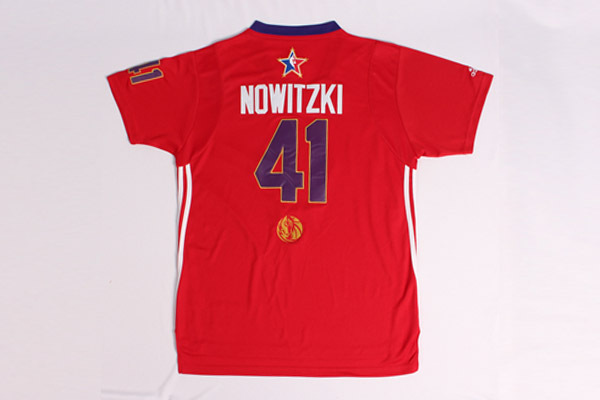 2014 All Star West 41 Nowitzki Red Swingman Jerseys