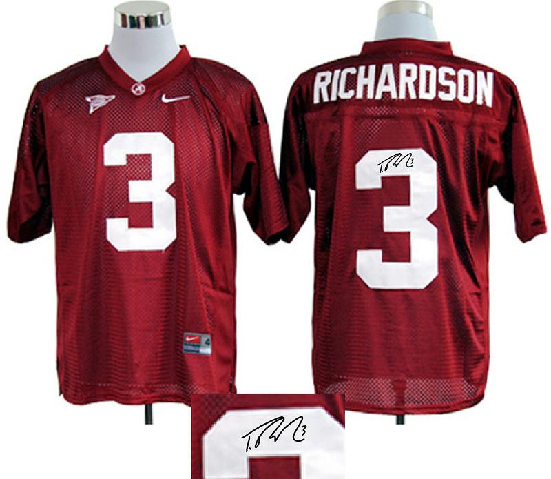 Alabama Crimson Tide 3 Richardson Red Signature Edition Jerseys