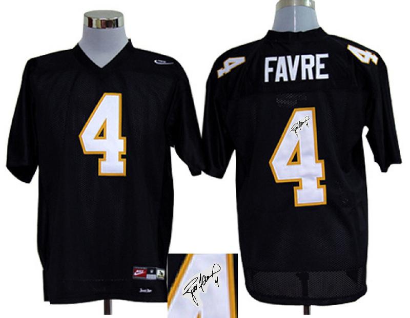 Southern Mississippi Golden Eagles 4 Favre Black Signature Edition Jerseys