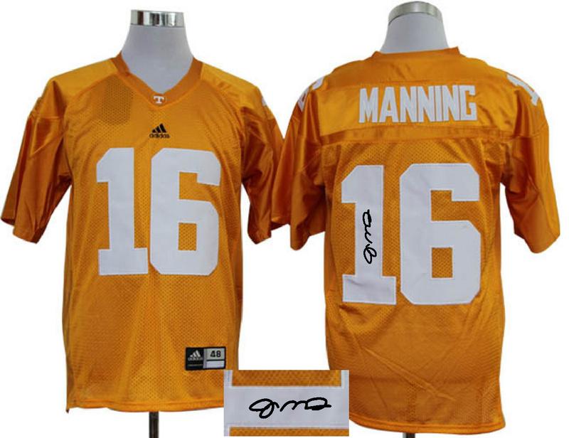 Tennessee Volunteers 16 Manning Orange Signature Edition Jerseys