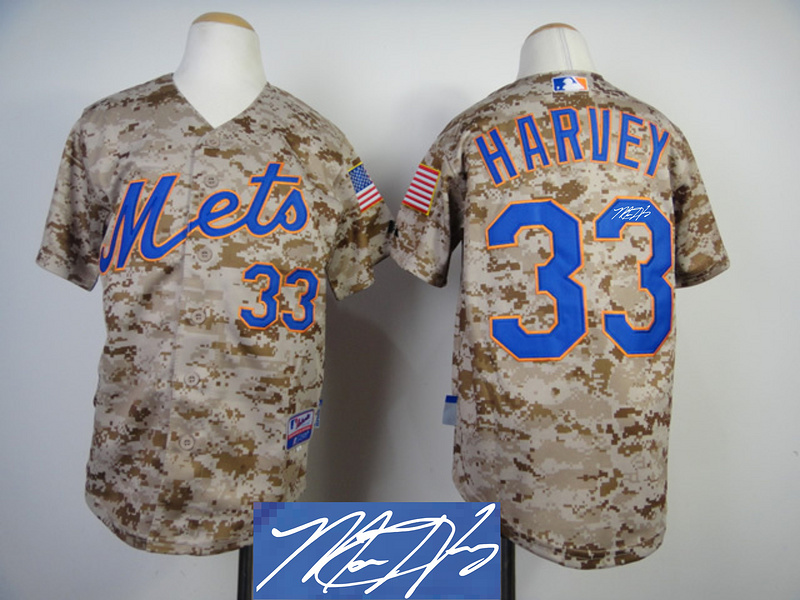 Mets 33 Harvey Camo Signature Edition Jerseys