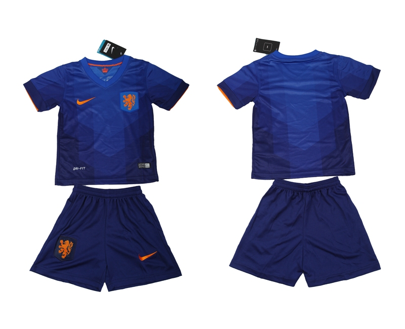 Netherlands 2014 World Cup Away Youth Soccer Jersey