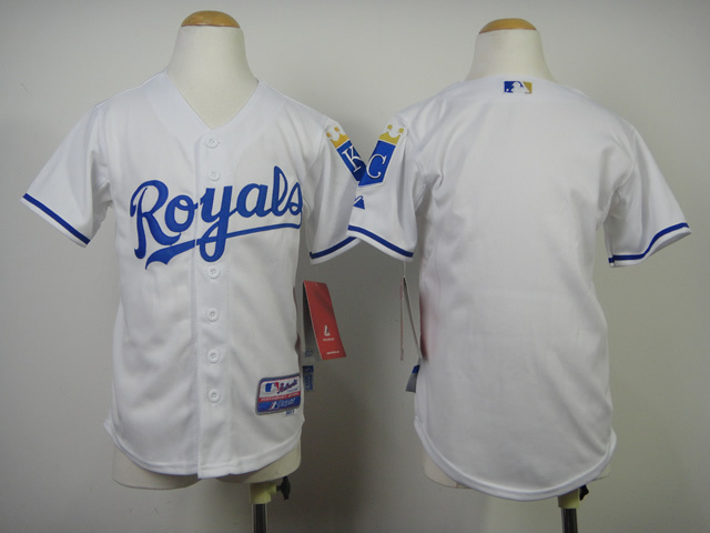 Royals Blank White Youth Jersey