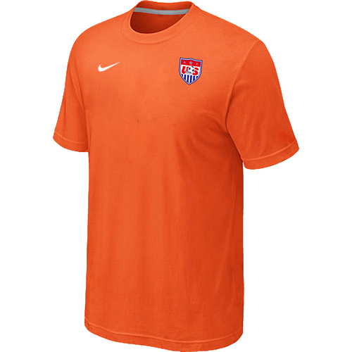 Nike National Team USA Men T-Shirt Orange