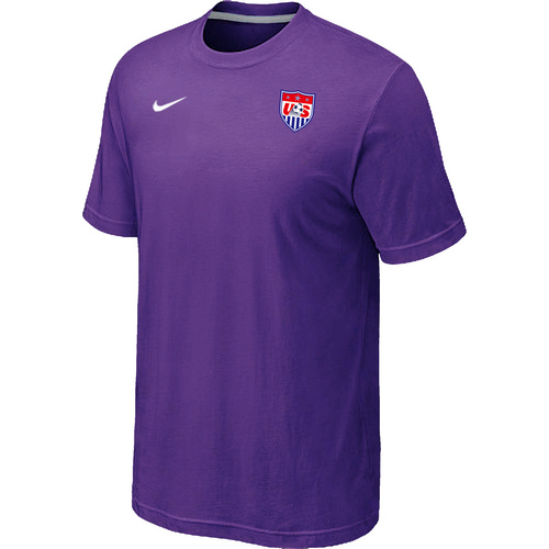 Nike National Team USA Men T-Shirt Purple
