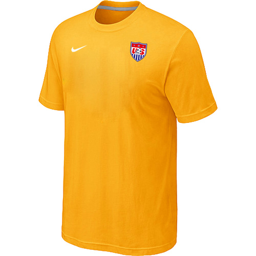 Nike National Team USA Men T-Shirt Yellow