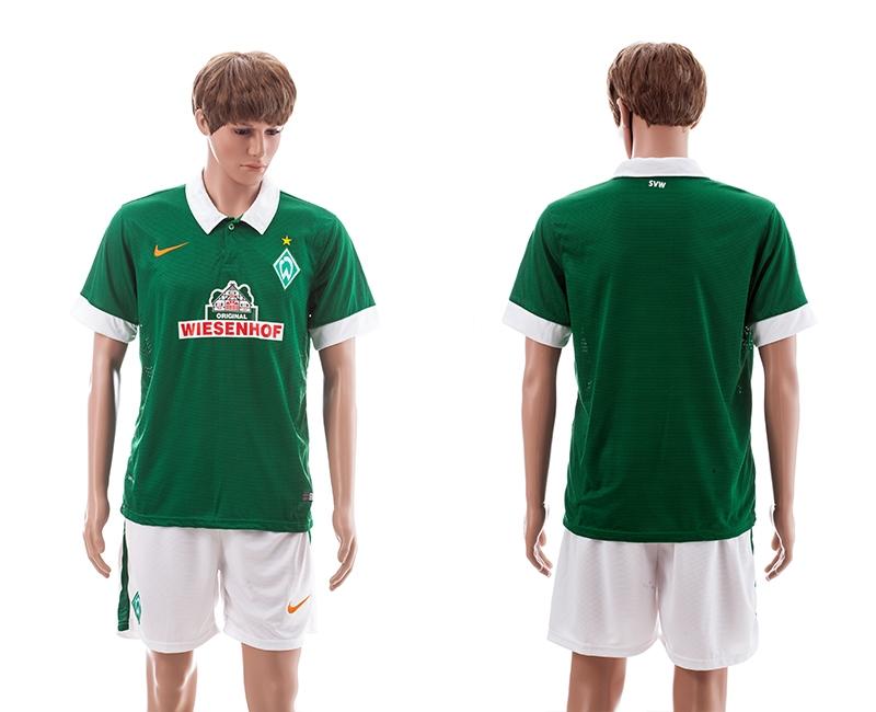 2014-15 FV Werder Bremen Home Soccer Jerseys