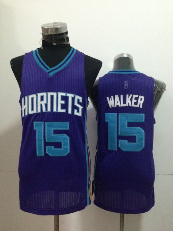Hornets 15 Walker Purple Jerseys